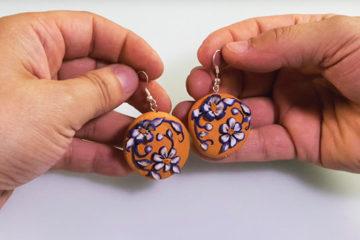 Boucles d'oreilles // Tutoriel DAS SMART – Pâte polymère